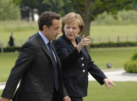 Angela Merkel y Nicolas Sarkozy