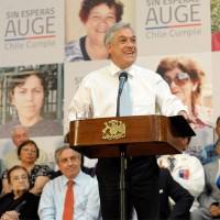 Presidente Piñera y anuncios en salud