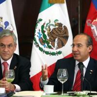 Presidentes Sebastián Piñera y Felipe Calderon