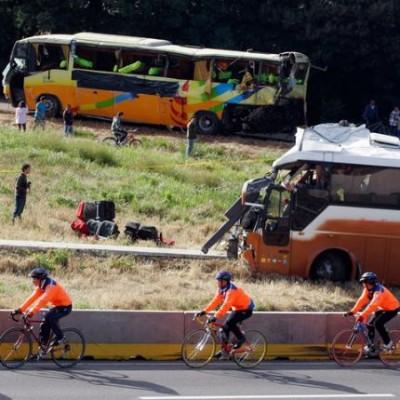 Accidente carretero en San Carlos