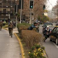 Incidentes en cercanías de Plaza Italia