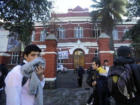 Manifestación de Alumnos del liceo José Manuel Barros Borgoño