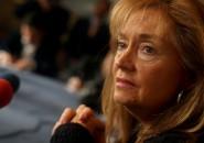 Vivianne Blanlot  da Conferencia de Prensa en el Ministerio de Defens