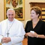 Papa Francisco llega a Brasil pidiendo no percatarse de la extrema seguridad