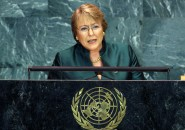 Chile's President Michelle Bachelet addresses the 64th United Nations General Assembly at the U.N. headquarters in New York