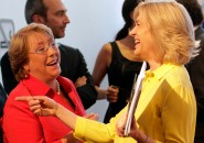 Michelle Bahelet y Evelyn Matthei