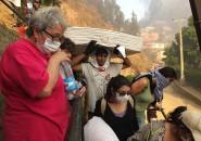 Damnificados por incendio en Valparaíso