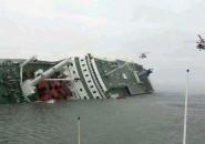 Transbordador hundido en Corea del Sur