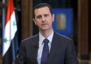 Syria's President Bashar al-Assad speaks during an interview with Venezuelan state television TeleSUR in Damascus