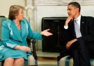 Michelle Bachelet y Barack Obama