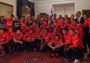 Selección Chilena en La Moneda