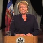 Adimark: Aprobación de Presidenta Bachelet baja cuatro puntos y llega al 54%