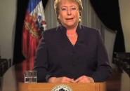 Michelle Bachelet en cadena nacional por La Haya