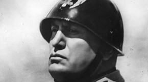 Benito Mussolini, who was once a waiter in Switzerland.