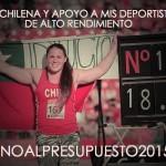 Natalia Ducó y otros deportistas hacen campaña contra el Presupuesto 2015
