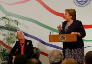 Christine Lagarde y Michelle Bachelet