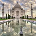 Construcción del Taj Mahal