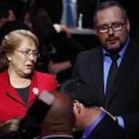 Michelle Bachelet y Sebastian Davalos