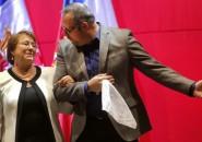 Michelle Bachelet y Sebastián Dávalos