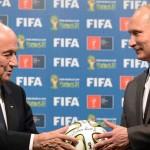 "Según Putin, Blatter ""merece el Premio Nobel"""