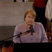 Michelle Bachelet en el Tefilá 2015 de la comunidad Judia en Chile