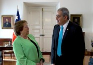 Michelle Bachelet y Sabas Chahuán