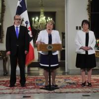 Rodrigo Valdes, Michelle Bachelet, Adriana Delpiano