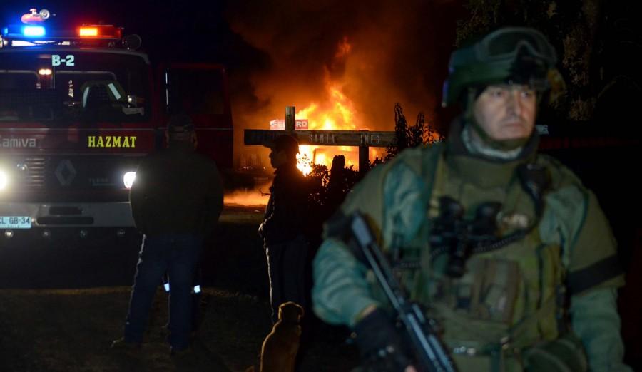 Мапуче подожгли церковь