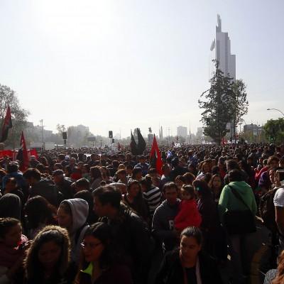 21 de Abril 2016/SANTIAGO Miles de personas se congregan en Plaza Italia para dar inicio a la primera marcha del año convocada por la confech FOTOS: FRANCISCO CASTILLO D/AGENCIAUNO