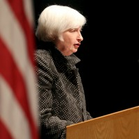 U.S. Federal Reserve Chair Janet Yellen speaks at the University of Massachusetts in Amherst, Massachusetts September 24, 2015. Yellen said on Thursday she expects the U.S. central bank to begin raising interest rates later this year as long as inflation remains stable and the U.S. economy is strong enough to boost employment.  REUTERS/Mary Schwalm