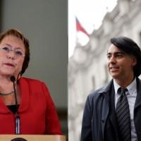 Michelle Bachelet y Marco Enríquez-Ominami