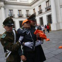 24 de Mayo de 2016/SANTIAGO Estudiantes se toman el Palacio de la Moneda. FOTO: PABLO VERA LISPERGUER/AGENCIAUNO
