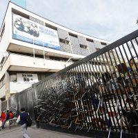 25 de MAYO del 2016/SANTIAGO  El Instituto Nacional de Santiago se encuentra en toma por sus estudiantes, en protesta por la nula respuesta respecto a la reforma educacional por parte del Gobierno     FOTO:FRANCISCO FLORES SEGUEL/AGENCIAUNO