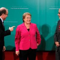 Alberto Undurraga, Michelle Bachelet y Rodrigo Valdés