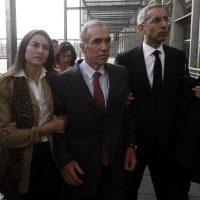Jaime Orpis llega el centro de justicia para ser notificado de su prision preventiva