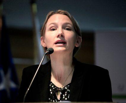 catalina mertz, presidenta de la asociación de supermecados