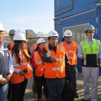 18 de Julio de 2016/ARICA  El canciller boliviano, David Choquehuanca, visita el puerto de Arica durante la visita que realiza en nuestro junto a una delegación  FOTO:ANDY MANZANARES/AGENCIAUNO