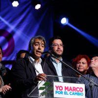 """23 de JULIO del 2016/SANTIAGO  El miembro del Partido Progresista, Marcos Enriquez Ominami participo del acto de proclamación de candidatos por el nuevo Chile: """"Yo marco por el cambio"""" FOTO:FRANCISCO FLORES SEGUEL/AGENCIAUNO"""