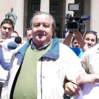 09 NOVIEMBRE 2016/VALPARAISO Cristián Labbé llego a la corte de Valparaiso donde es acusado por torturas cometidas en marzo de 1975  FOTO:SANTIAGO MORALES/AGENCIAUNO
