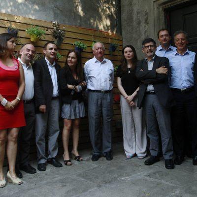 23 de enero del 2017/SANTIAGO Ricardo Lagos se reunió con su equipo nuevo de voceros en un hostel del centro de Santiago FOTO: FRANCISCO CASTIILLO .D AGENCIAUNO