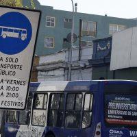 19 DE MARZO DE 2014/SANTIAGO El subsecretario de Transportes, Cristián Bowen, anunció el inicio del cobro de infracciones automáticas a los automovilistas que ingresen a las vías exclusivas de San Francisco, Santa Rosa, Compañía-Merced y Santo Domingo, y en las pistas sólo bus de San Diego y un tramo de Providencia. FOTO: FRANCISCO CASTILLO D./AGENCIAUNO