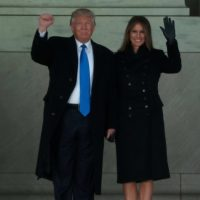 trump y melania en washington