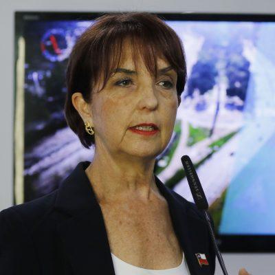 20 de marzo de 2018/SANTIAGO La ministra de Transportes y Telecomunicaciones, Gloria Hutt, se refiere al futuro del proceso de licitación del Transantiago. La ministra de Transporte, Gloria Hutt, habla en el punto de prensa. FOTO: SEBASTIAN BELTRÁN GAETE/AGENCIAUNO