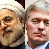 El portavoz del Kremlin, Dmitri Peskov, y el presidente de Irán,Hasan Rohani, se refieren a la propuesta del líder francés, Emmanuel Macron, sobre renegociar el acuerdo nuclear