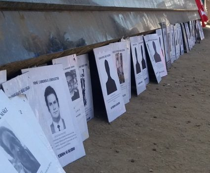 Foto de memorial a detenidos desaparecidos de Valparaíso. Foto de la diputada Carmen Hertz