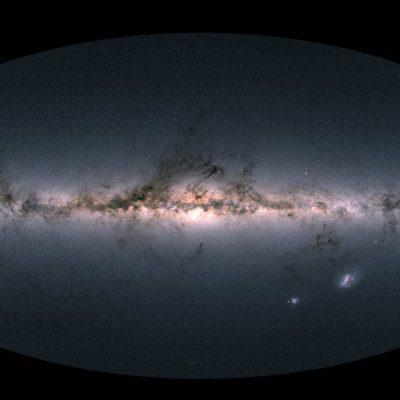Gaia's sky in colour Vía Láctea. Foto: ESA