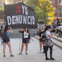 Coordinadora Feminista Universitaria realizó una manifestación contra el acoso callejero.