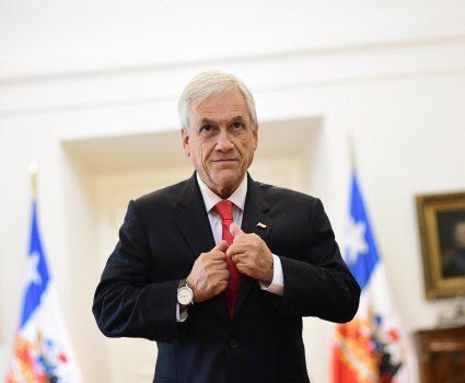 Presidente Sebastián Piñera en La Moneda.