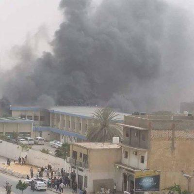 Ataque en Comisión Electoral de Libia. Foto de The Libya Observer