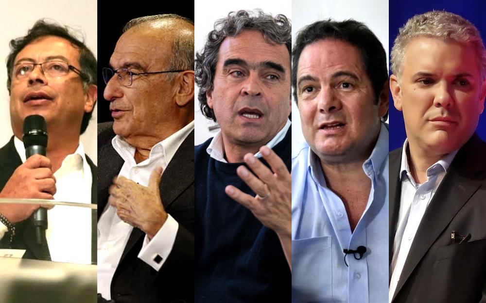 Candidatos a las elecciones en Colombia